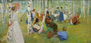 Carl Larsson, Frukost i det gröna, 1910-1913