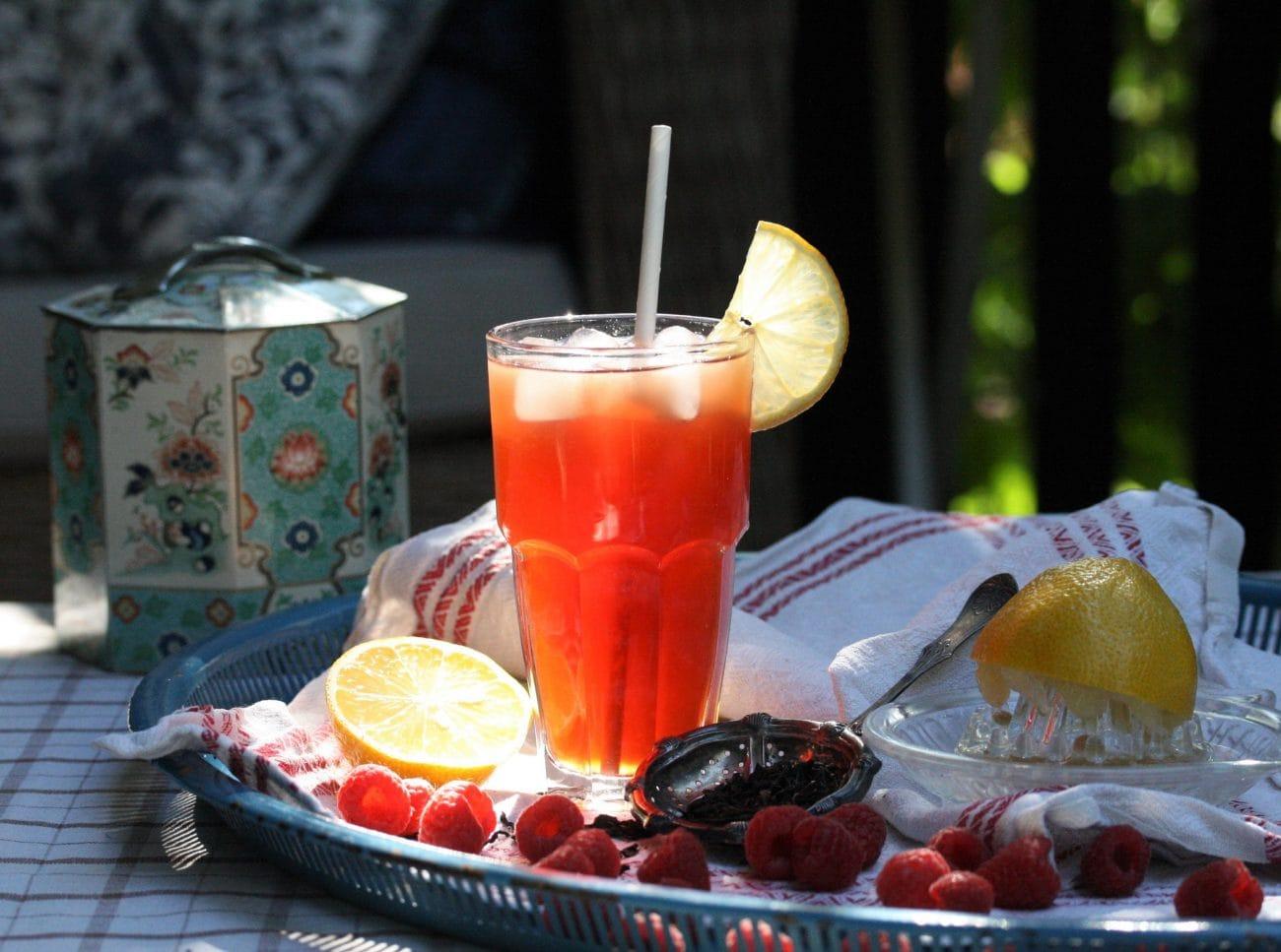 Is-te med hallon och citron