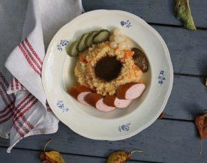 Recept på hutspot, en holländsk variant på rotmos.