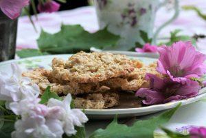 Recept på kakor af hafregryn från 1800-talet.