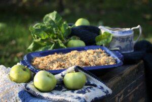 Recept på Äppelgott med havregryn. Enkelt och gott!